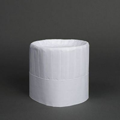 """Royal Paper 7"""" Pleated Chef Hats with Comfort Band Disposable RCH7 28 Case"""