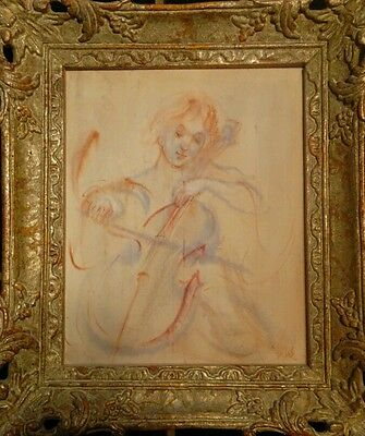 Signed Edna Hibel Water Color on Board *Price Reduced* Framed Original
