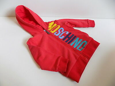 Moschino boy's cute zip jacket tracksuit top / hoodie size 6-9 months    ldd