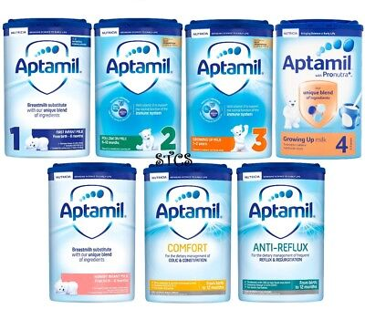 Aptamil First Infant Milk Powder Formula from Birth Onwards 1 2 3 4 (800g) NEW