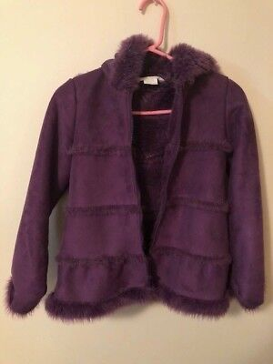 Girls winter coat, purple size 8 Garnet hill kids