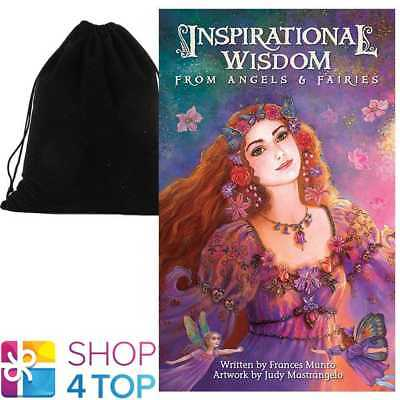 Inspirational Wisdom From Angels & Fairies Cards Us Games Systems Velvet Bag New