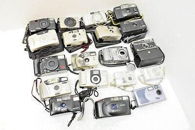 Camera x19 Job Lot  - Vintage Compacts & SLR - 35 mm - Olympus - Nikon - Canon