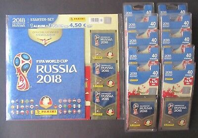 Panini FIFA World Cup RUSSIA 2018 Starter-Set + EXTRA 400 Sticker 1A TOP Zustand