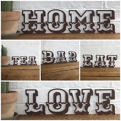 """Rusty Carnival Letters Home Shop Rustic Fairground Circus Word Sign A-Z 5"""" 12"""""""