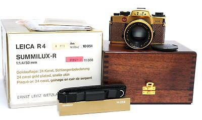 MINT! Leica R4 Gold Edition with Summilux-R 1.4/50mm boxed 10051