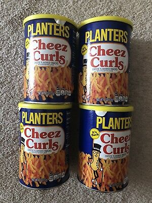 2018 PLANTERS (4) Cans CHEEZ CURLS Full In Can 4OZ IN HAND READY TO SHIP