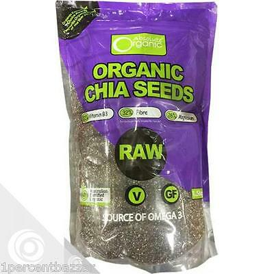 Absolute Organic Chia Seeds 1.5kg x  1 pack