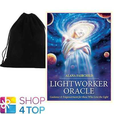 Lightworker Oracle Deck Cards Esoteric Telling Blue Angel With Velvet Bag New