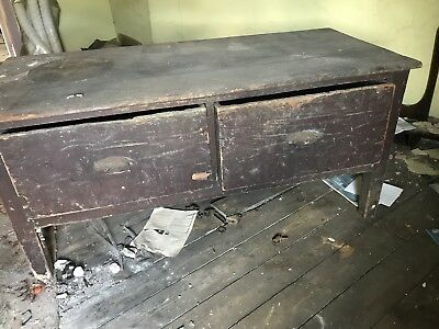 antique coffer Mule chest Blanket Box Two Drawers