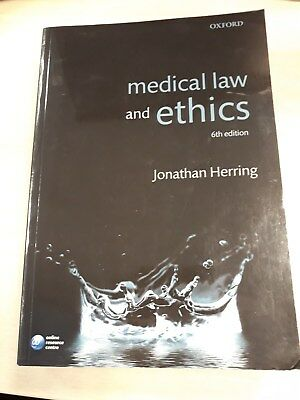 Medical Law and Ethics by Jonathan Herring (6th Edition)