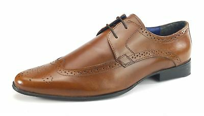 b1ce310dc4b See Details. Frank James Harlow Leather Lace Up Mens Shoes Brogue pointed  WIDE FIT toe Tan