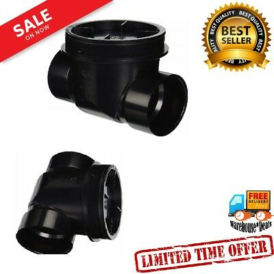 """Backwater Valve 3""""  Protects street sewer drain adapters W piping systems Black"""
