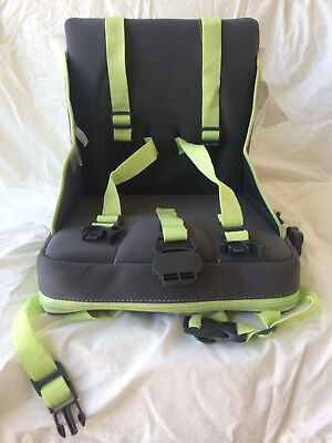 Very lightly used travel Babymoov child Booster Seat in gray