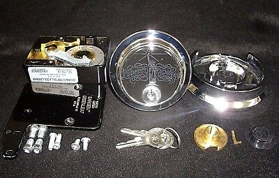 S&G Combination Safe Lock #6730 From Liberty Safe Chrome Finish-Black Lock Case