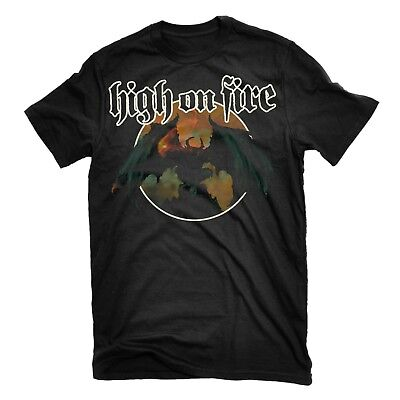 HIGH ON FIRE Blessed Black Wings T-Shirt NEW! Relapse Records TS2883