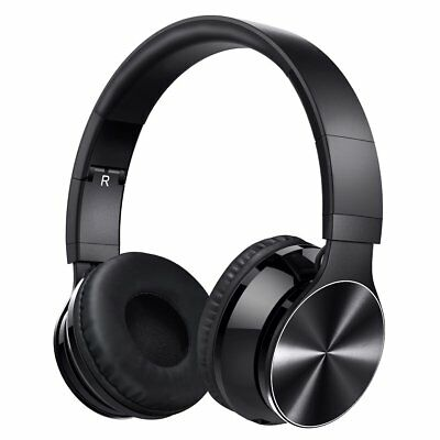 Bluetooth Wireless Headset with Mic and Wired Mode, Foldable Over Ear Headphones