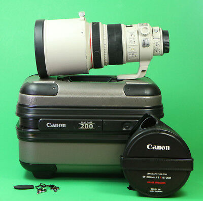 Canon EF 200mm F2 L Image Stabilizer USM Fast Telephoto Lens for all EOS DSLRs