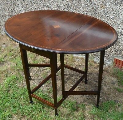 Antique Mahogany Inlaid  Pembroke Table