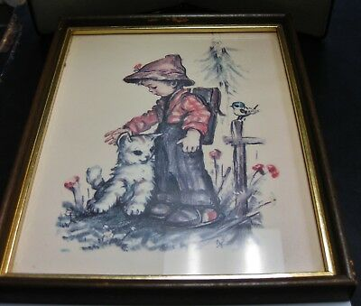 Hummel Children Lithograph