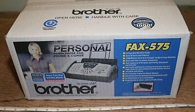 *new Sealed In Box* Brother Fax-575 Plain Paper Fax Phone Copier- Low Price Look