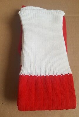 Youth Red & White Football Socks (12-2)