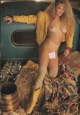 NICOLE WOOD   Original  Playboy Playmate Pin-Up   April 1993