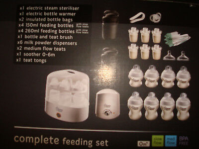 New Tommee Tippee Closer to Nature Complete Feeding Set