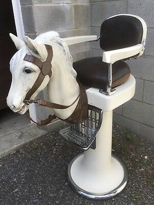 Rare Theo Koch Child'S Horse Head Barber Chair