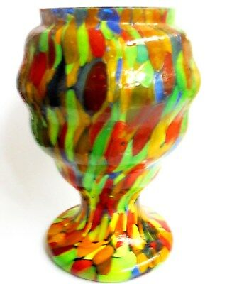Antique Multi Coloured Glass Vase.