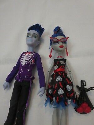 Ghoulia and Slow Moe Love's Not Dead Set of Two Monster High Dolls
