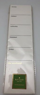 Kate Spade Weekly Sticky Notepad, 52 pages, New
