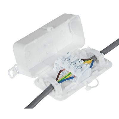 DEBOX SL In-line Connector Box with 4 Pole Screwless Terminal Block DEKSB-003
