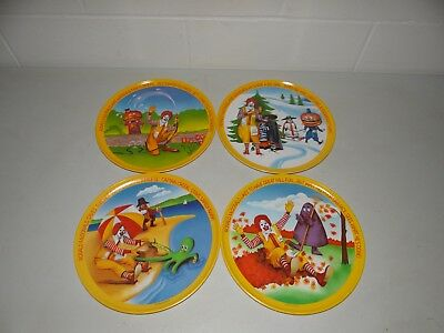 Vintage 1977 Ronald McDonald's Collector 4 Plate Set Spring Summer Fall Winter