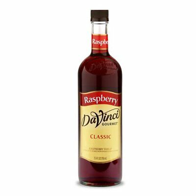 DaVinci Gourmet Classic Coffee Syrup, Raspberry, 25.4 Fluid Ounce Pack of 4, for