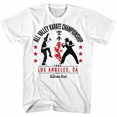 55b4263306cf7c Karate Kid Cobra Kai Championship Fight Men T Shirt Los Angeles California  Zabka