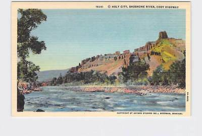 Vintage Postcard National State Park Yellowstone Holy City Shoshone River Cody H