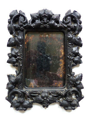SUPERB ANTIQUE 19th CENTURY FRENCH GUTTA PERCHA PICTURE FRAME c.1880's
