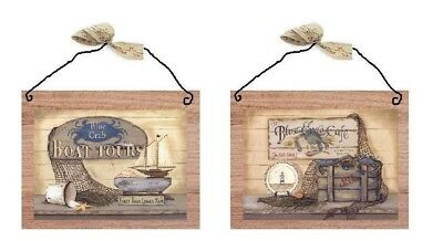 The Blue Crab Pictures Nautical Fishing Nets Starfish Cafe Wall Hangings Plaques