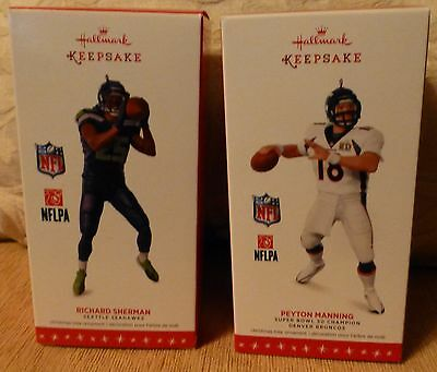 2016 Hallmark-Richard Sherman-Seattle Seahawks &peyton Manning Denver Broncos