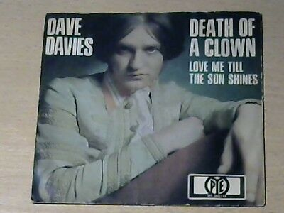 "7"" DAVE DAVIES (THE KINKS) * Death Of A Clown (BEAT)"