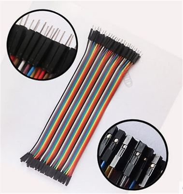 40Pcs Dupont Wire Jumpercable 20Cm 2.54MM Male To Female 1P-1P For Arduino hx