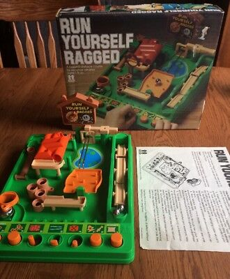 Vintage Run Yourself Ragged Game By Tomy