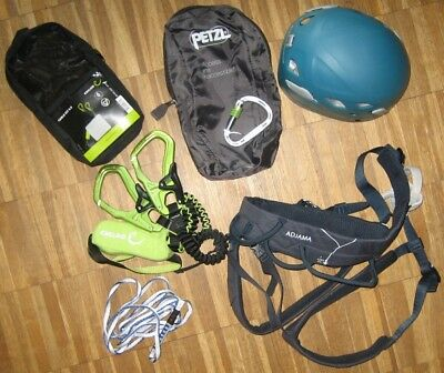 Edelrid Cable Kit 5.0 + Petzl Gurt Gr. S + Helm Black Diamond Klettersteigset