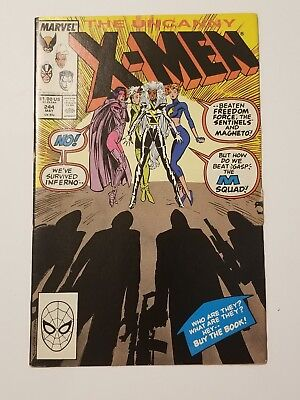 Uncanny X-Men #244 1st Jubilee & M-Squad Marvel Comics Comic FN+ / VF-