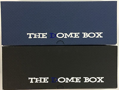 Set of 2 of DOME BOXES Great for Sports Card Storage & Magic the Gathering Cards