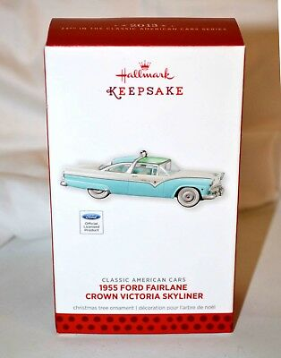 2013 Hallmark Keepsake Ornament 1955 Ford Fairlane Crown Victoria Skyliner MIB