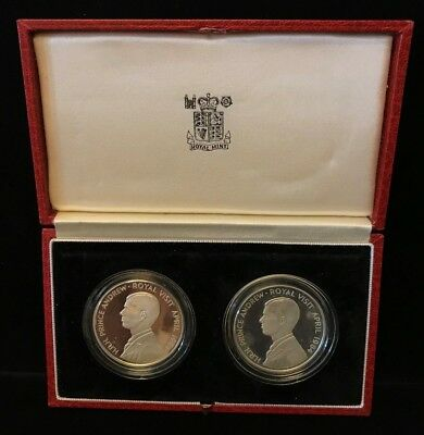 1984 Prince Andrew Royal Visit, 50 Pence Coin Set
