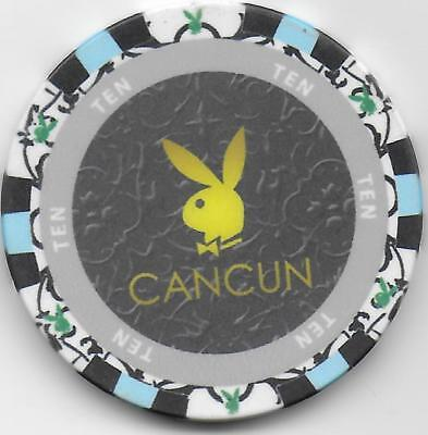 Obsolete $10 Casino Chip From PLAYBOY CLUB-Cancun, Mexico-CG081199-Closed 2014