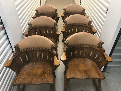 Romweber Viking Oak Captain's Chairs (6)